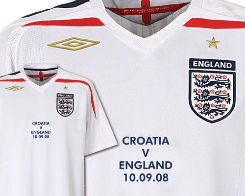 Special England Croatia shirt